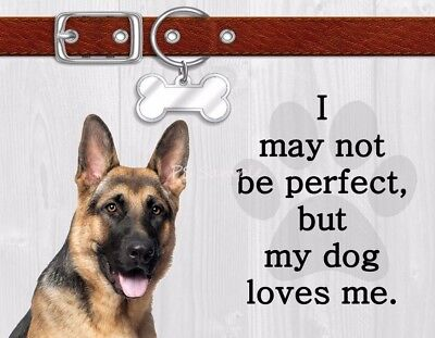 GERMAN SHEPHERD I May Not Be Perfect But My Dog Loves Me Magnet