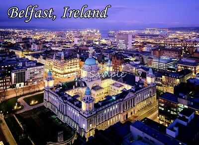 BELFAST Ireland City View Travel Souvenir Magnet #2