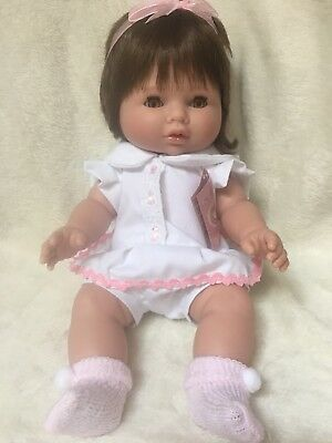 Berbesa Baby Doll 34cms With Pouch Open/Close Brown Eyes BNWT