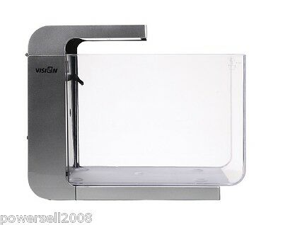 20L Acrylic Open-ended Small Ecological Gift Aquarium Fish Tank Silver White &$