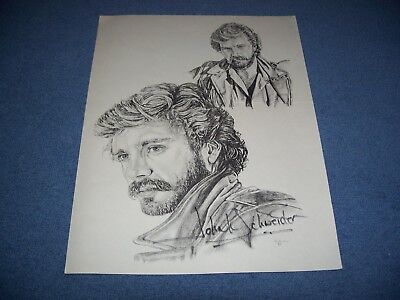The Dukes of Hazzard John R Schneider Etched Pencil Picture Signed Jim Tostrud
