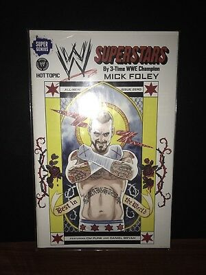 WWE Hot Topic Exclusive Superstars No 0 CM Punk Variant Cover By Mick Foley VHTF