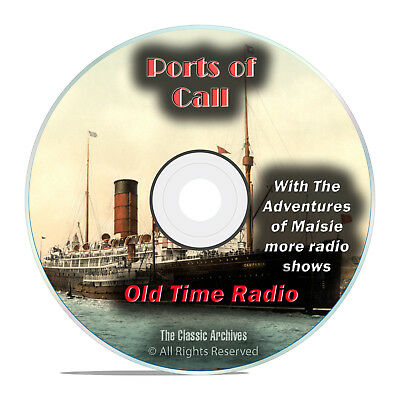 Ports of Call, 511 Old Time Radio, World History Drama Shows, mp3 DVD G72