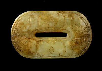 Extra Fine Ancient Chinese Jade Belt / Sash Buckle