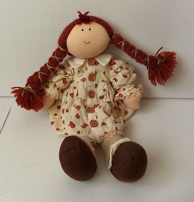 The Snuggle B's Boyds Bear Collection Ltd 2001 Cloth Doll Toy Strawberry Dress