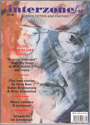 Interzone Issue 38 - Special Brian Aldiss Issue - with free s/s booklet etc