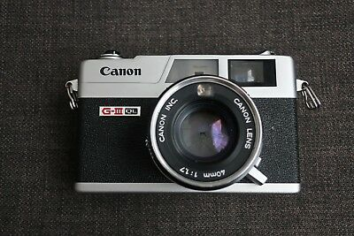 Canon Canonet QL17 Giii 35mm Rangefinder Film Camera with Canolite D Flash