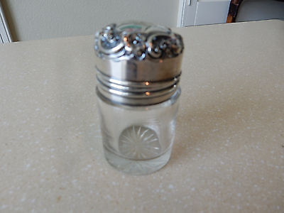 Antique Sterling Silver Hinged Topped Dressing Table Jar Pot