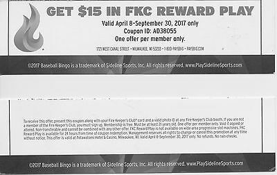 Potawatomi Casino $15 Reward Play