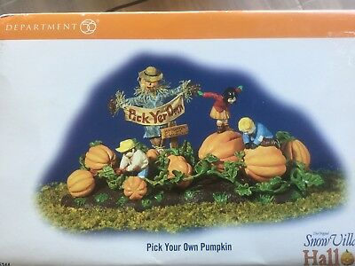 Department 56- Retired- 55244 Pick Your Own Pumpkin- New In Box