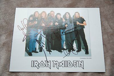 original iron maiden signed print by all the band