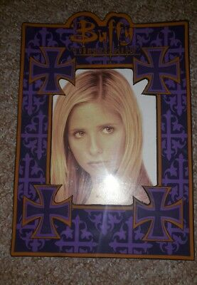 Buffy BTVS collectible purple cross photo frame rare memorabilia