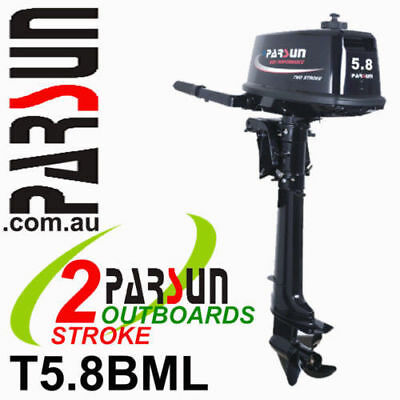 5.8HP PARSUN Outboard 2-stroke Long Shaft   2yr FULL FACTORY WARRANTY. Brand New