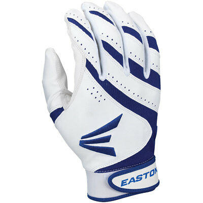 Easton HF VRS Womens Fastpitch Softball Batting Gloves - White/Royal - Small