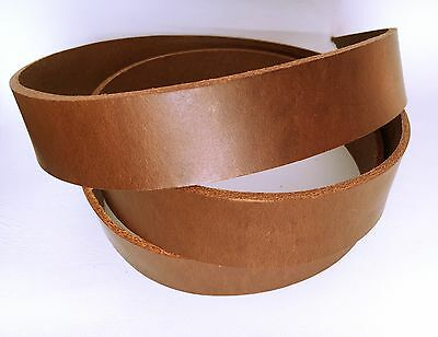 Brown ITALIAN LEATHER Strap Belt Blank Belt Guitar Rifle AUSSIE SELLER