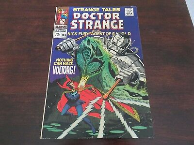 Strange Tales #166 (Mar 1968, Marvel) Dr Strange Nick Fury VF-