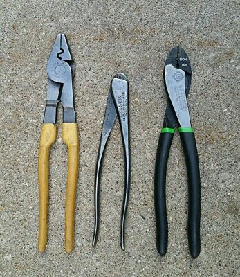 (3)Misc. Usa Electrician Terminal Crimping Tools- Greenlee, Ideal, Nicopress