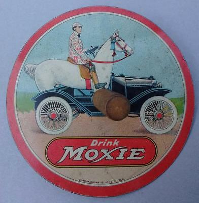 Antique Drink Moxie Advertising Tin Litho Toy Top Chas. W. Shonk Co.