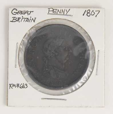 1807 Great Britain Penny Km#663 Great Detail!!!