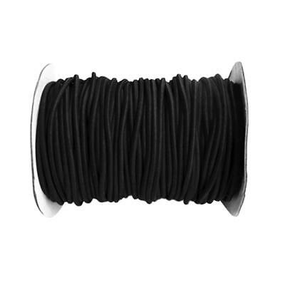 4mm 10m Black Round Elastic Bungee Rope Shock Cord Tie Down Boats Trailers
