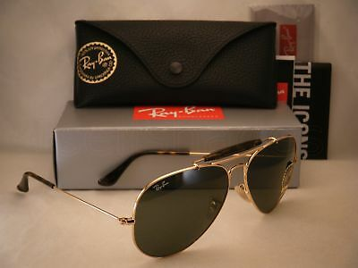 ebd74d235a RAY BAN 3029 Outdoorsman II Gold w Green Crystal (G-15) Lens (RB3029 ...