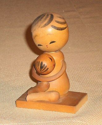 Vintage Japan Creative こけし こけし KOKESHI Doll Signed Wood Handcrafted 613r