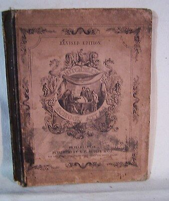 Antique Book MITCHELL'S School Geography Atlas 1861 Illustrated BUTLER & Co