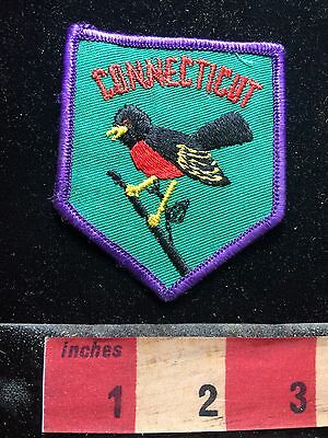 Vtg Connecticut State Bird Patch ~ The American Robin 73C4