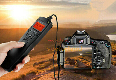 For Canon 5D Mark II 7D Digital LCD Timer Shutter Release Remote Control Cable