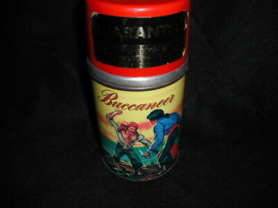 1957 Bucaneer Thermos for Dome Lunch Box , Vintage EXC cond * with Sticker * HTF