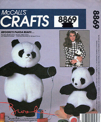 McCalls 8869 - Panda Bear Big and Small Patterns