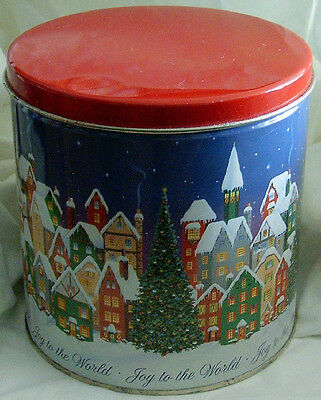 Joy to the World Tall Cookie Tin