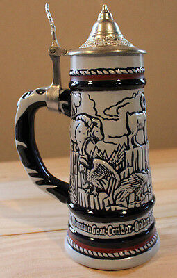 Collector's Ceramic with Pewter Lid Beer Stein, 1977 - Boxed - First in Series
