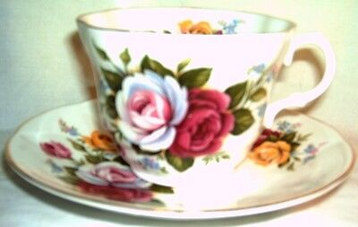 Rosina - Roses China Cup and Saucer