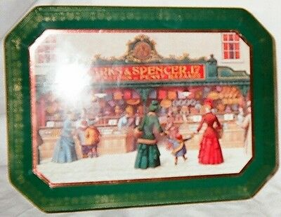 Marks and Spencer Old Fashioned Winter Scene Tin