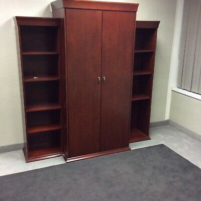 desk with matching cordenza and book case