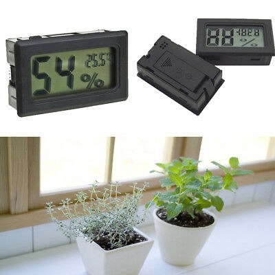 Black Digital LCD Indoor Temperature Humidity Meter Thermometer Hygrometer