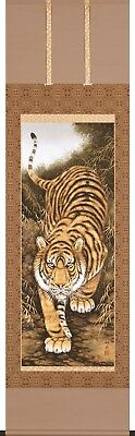 KAKEJIKU Japanese Hanging Scroll A-115 Takamatsu Kunio Fierce Tiger JAPAN
