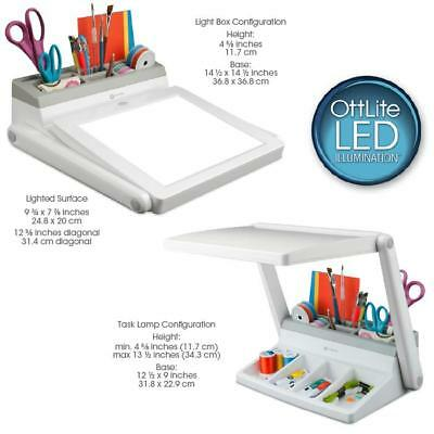 Ottlite Led Light Box /Task Lamp Combo