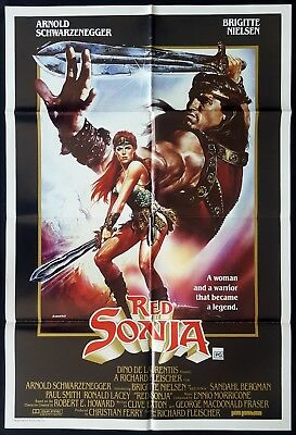 RED SONJA Original Australian One sheet Movie poster Arnold Schwarzenegger