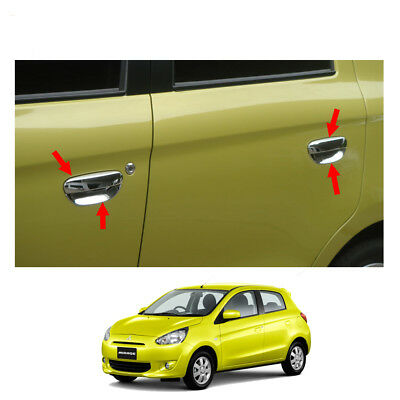 Door Handle + Bowl Inner Cover Chrome Fits Mitsubishi Mirage Space Star 12 - 15