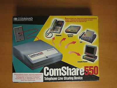(New - old stock) Sealed - Comshare 550 Telephone line sharing device