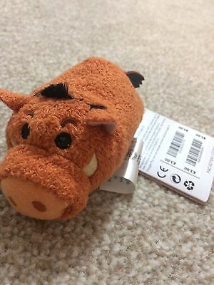Disney Store Small Tsum Tsum soft toy Pumba Pig The Lion King new with Tags