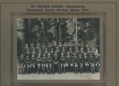1924 Board Photograph St.peters College School Hawke's House Named Students R66.