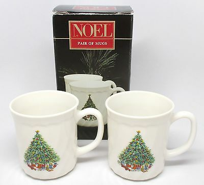 Salem China - NOEL Pair of Mugs - Porcelle - #11193 - Made in France w/Box - A