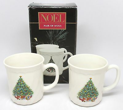 Salem China - NOEL Pair of Mugs - Porcelle - #11193 - Made in France w/Box - B