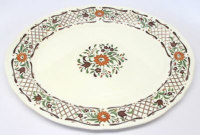"Johnson Brothers - Fleur L'Orange - 13"" Platter - Ironstone - Made in England"