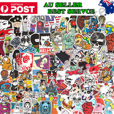 100PCS Random Vinyl Decal Graffiti Stickers Bomb Laptop Skat Waterproof Stickers