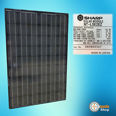 SHARP Solarmodul 125 Watt MONOKRISTALLIN full Black Edition 125W PV Solarpanel