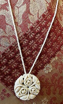 Japanese Ball Necklace Ball Within Ball Carved from One Piece Collectable